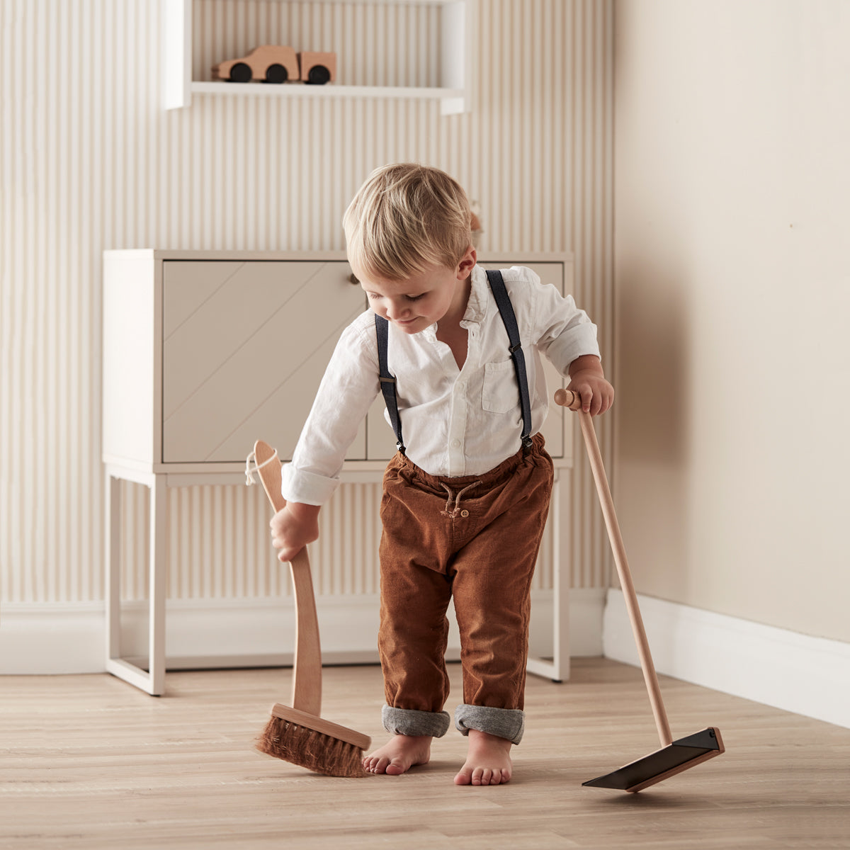 kids dustpan and brush kids concept wooden