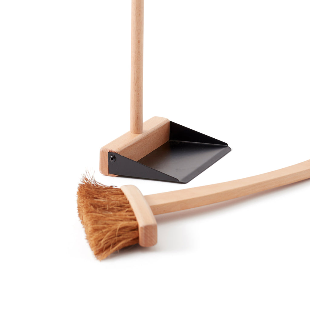 close up of dust pan and brush from kids concept
