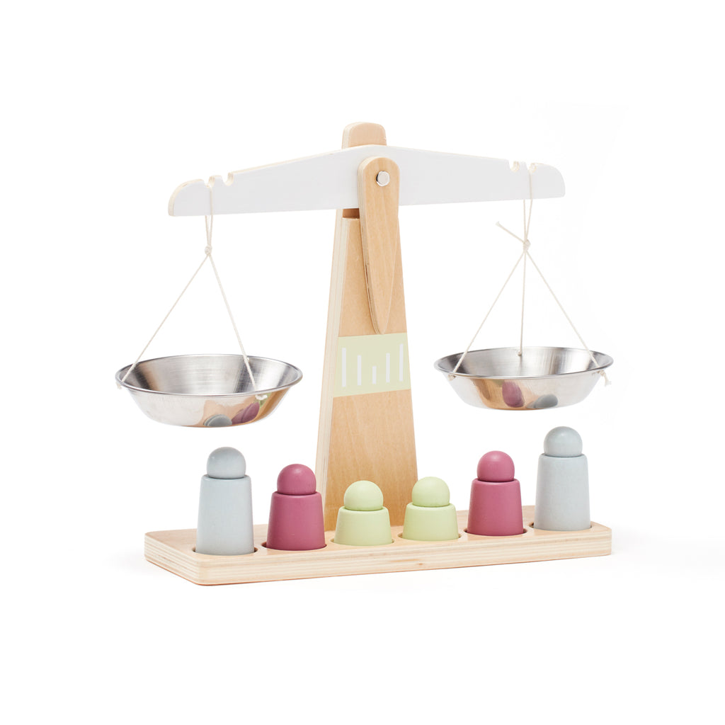 Kids Concept Childrens wooden weighing Scale