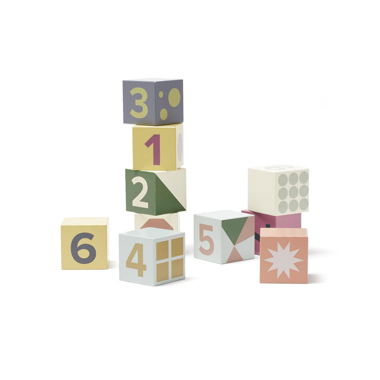 Kids Concept Cubes wood 10 pcs EDVIN