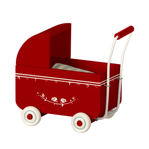 Maileg pram my size red miniature dolls house furniture