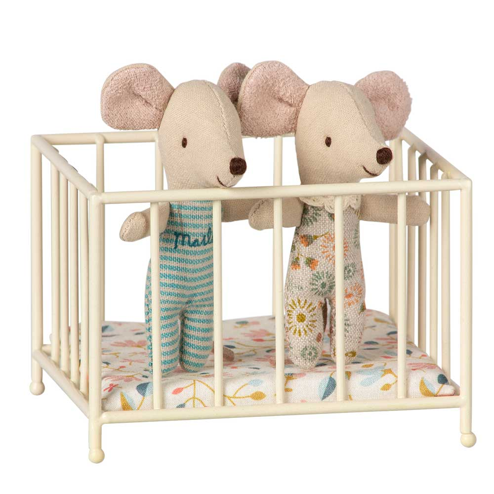 Maileg Playpen off white my size with twin mice