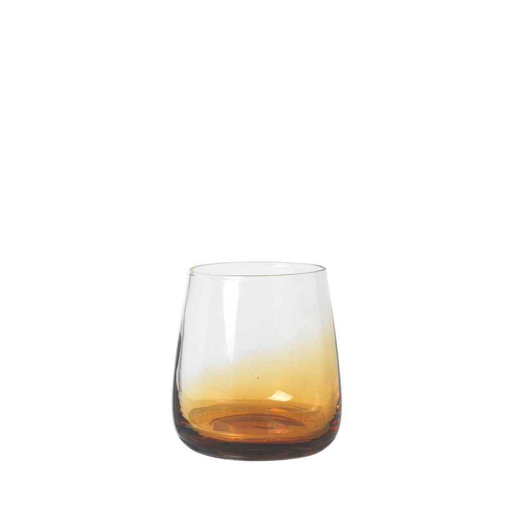 Amber Tumbler Broste Copenhagen mouth blown glass
