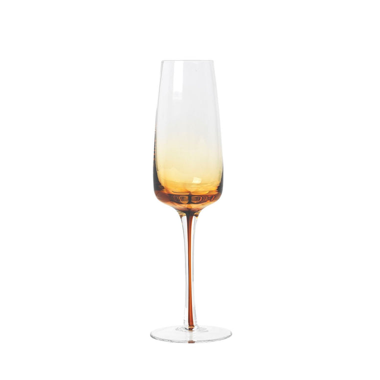 Amber Champagne Glass