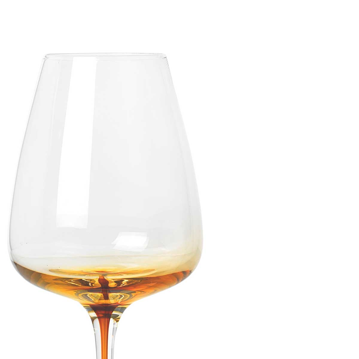 Broste Copenhagen Amber wine glass mouth blown