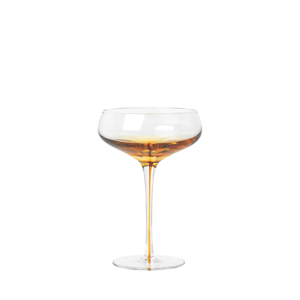 Broste Copenhagen Amber Cocktail Glass