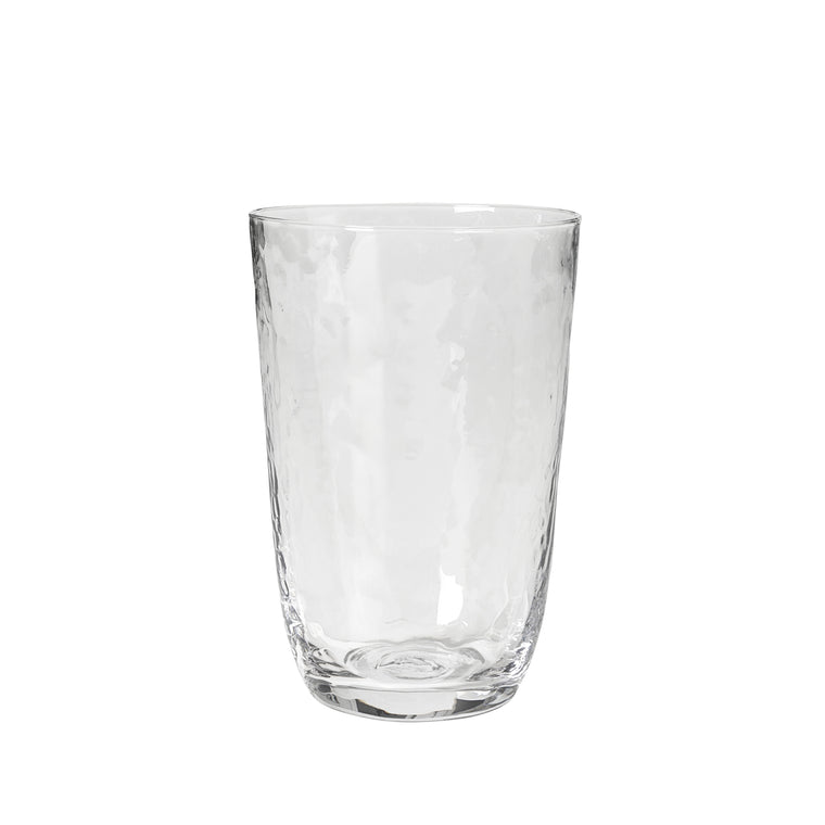 Hammered drinking glass 50 cl