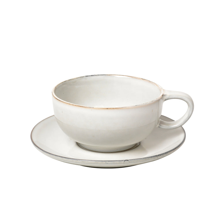 Nordic Sand tea cup and saucer