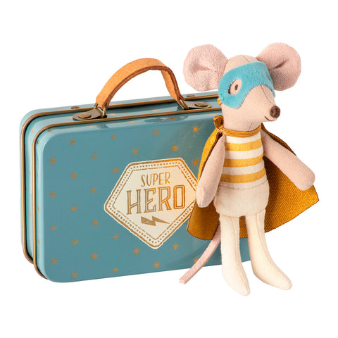 Maileg Superhero mouse, Little brother is a suitcase