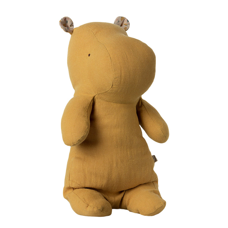 Safari Friends Medium Hippo - Dusty yellow