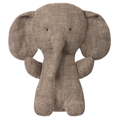 Maileg Noah's Friends Elephant mini All ages new baby Grey linen
