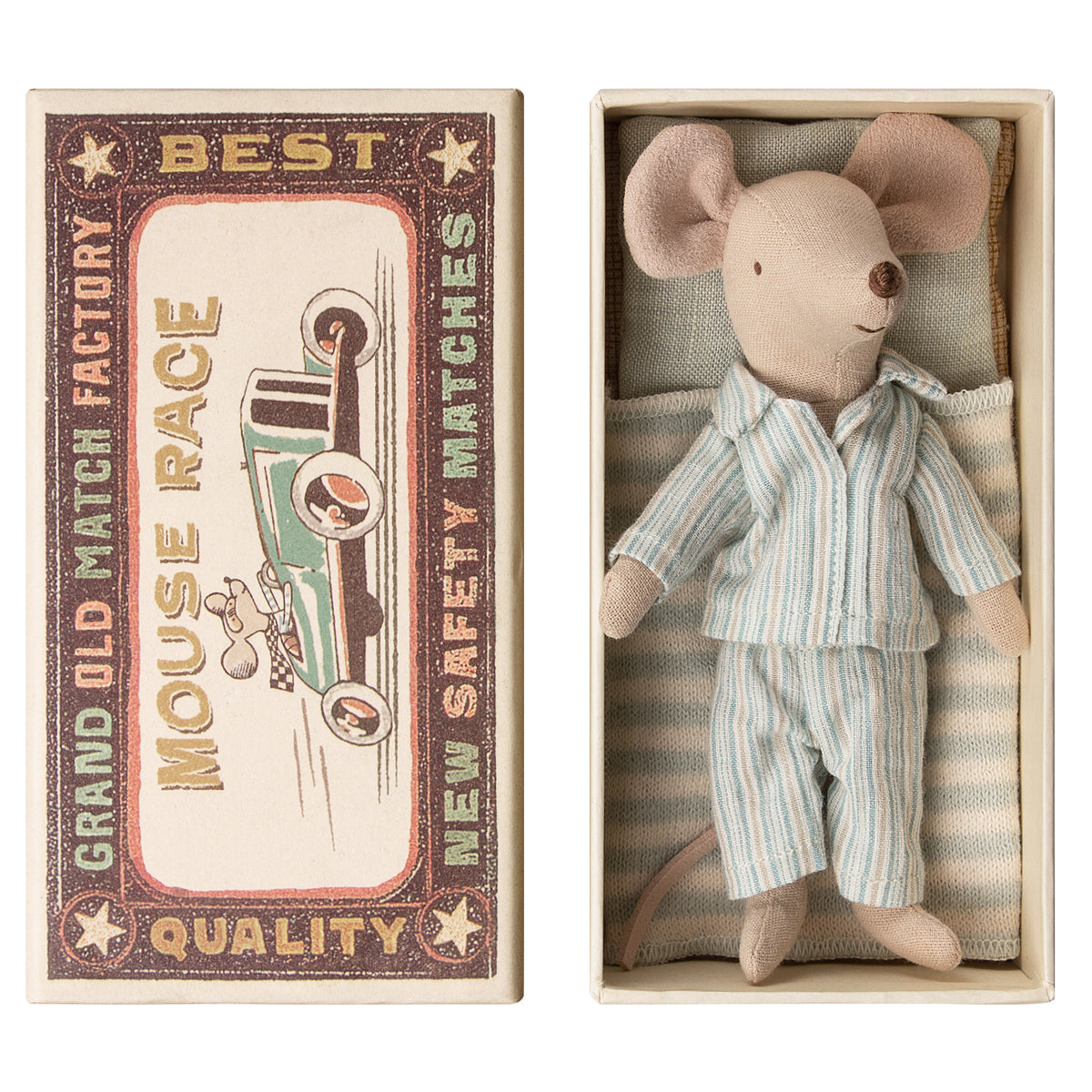 Maileg Big Brother mouse in a box miniature dollshouse