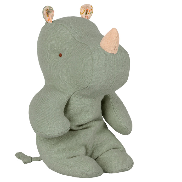 Safari Friends Small Rhino - Dusty Green