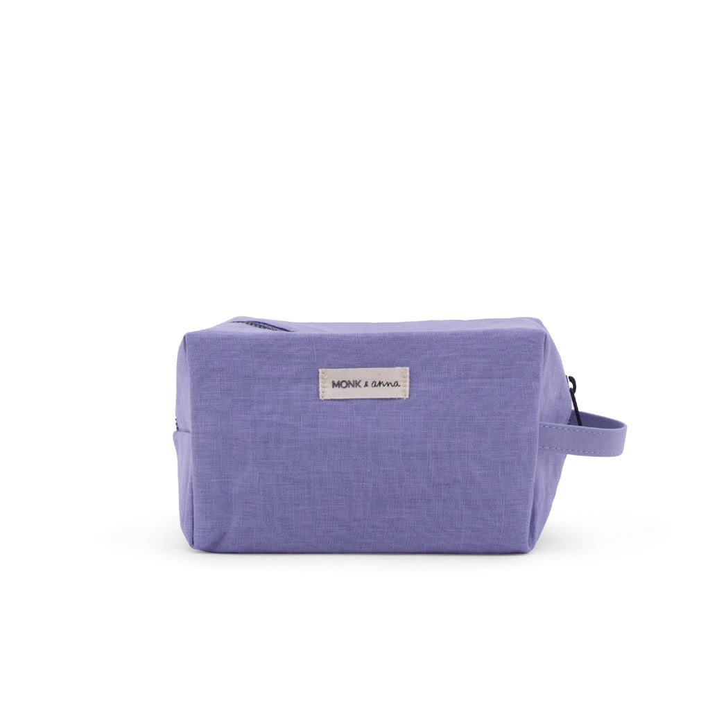 Toilet bag Lilac monk and Anna linen wash bag