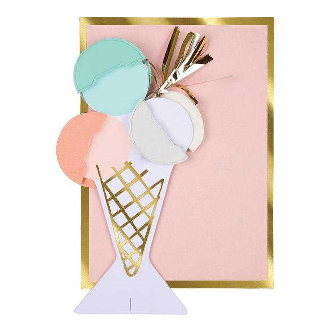 Ice Cream Honeycomb Card