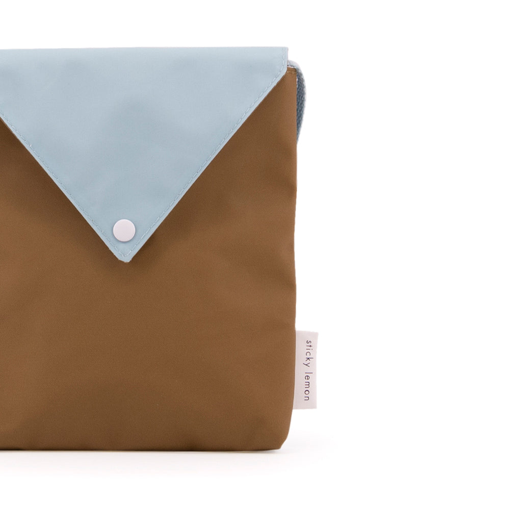 Envelope Bag Misty Green and Gold Green by sticky lemon