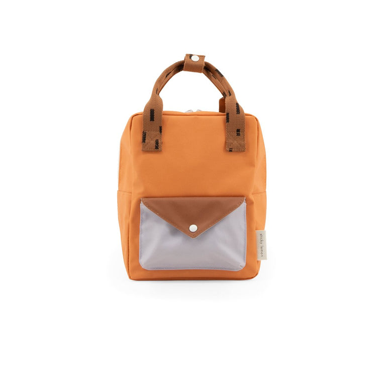 small backpack sprinkles | envelope | apricot orange, cinnamon brown + lavender