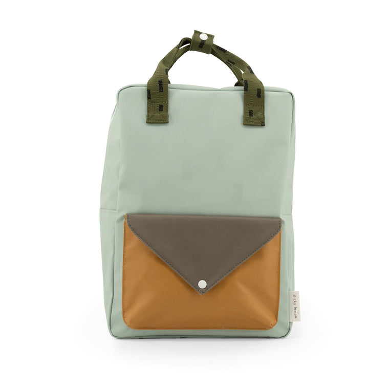 Large backpack sprinkles envelope sage green - moss green - panache gold