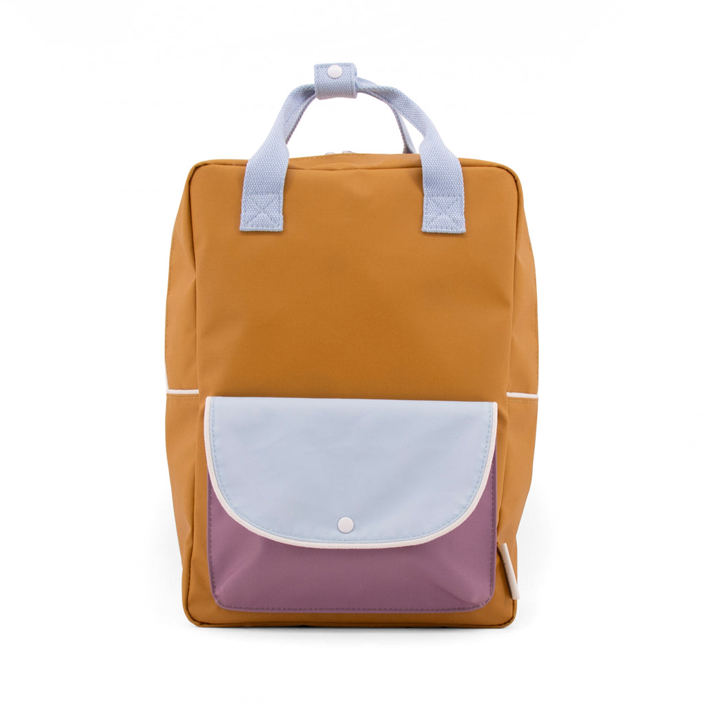 Sticky Lemon Large backpack wanderer caramel fudge + sky blue + pirate purple