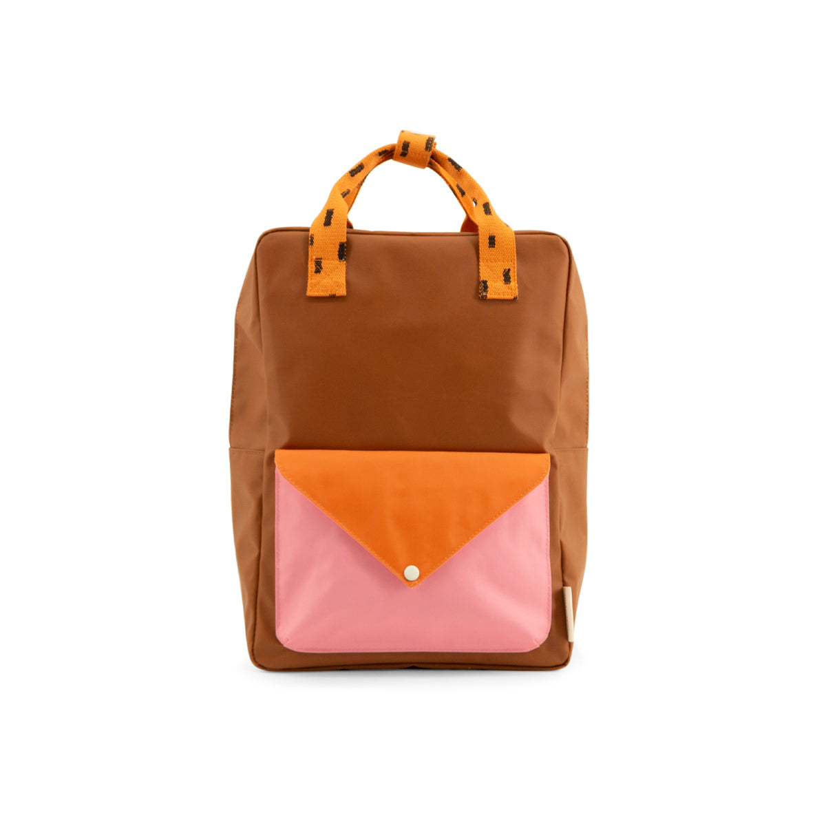 Sticky Lemon large backpack sprinkles | envelope | syrup brown + carrot orange + bubbly pink