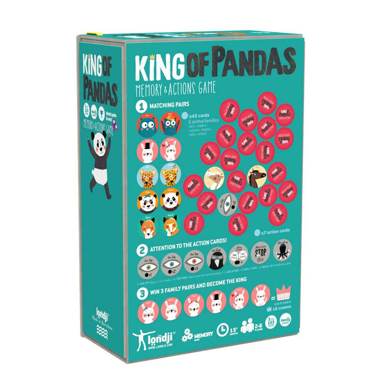 Londji King of Pandas Memo Action game