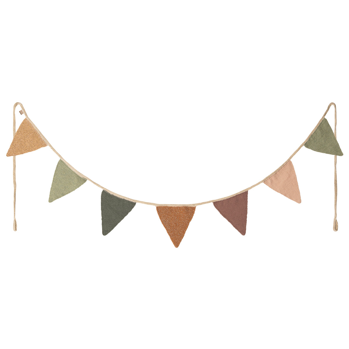 Maileg Garland 7 flags knit - Rose Children's interiors