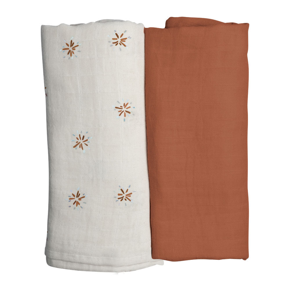 Organic Swaddle - 2 pack - Dandelions Fabelab