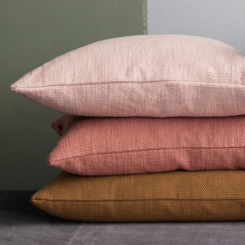 Cotton Cushions Cozy living Pinks and mustards