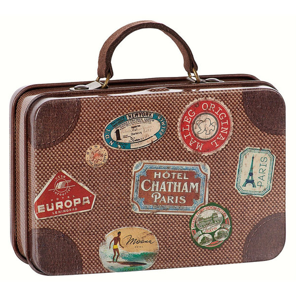 Maileg Metal Travel Suitcase, Brown   Washable mice from Maileg ...