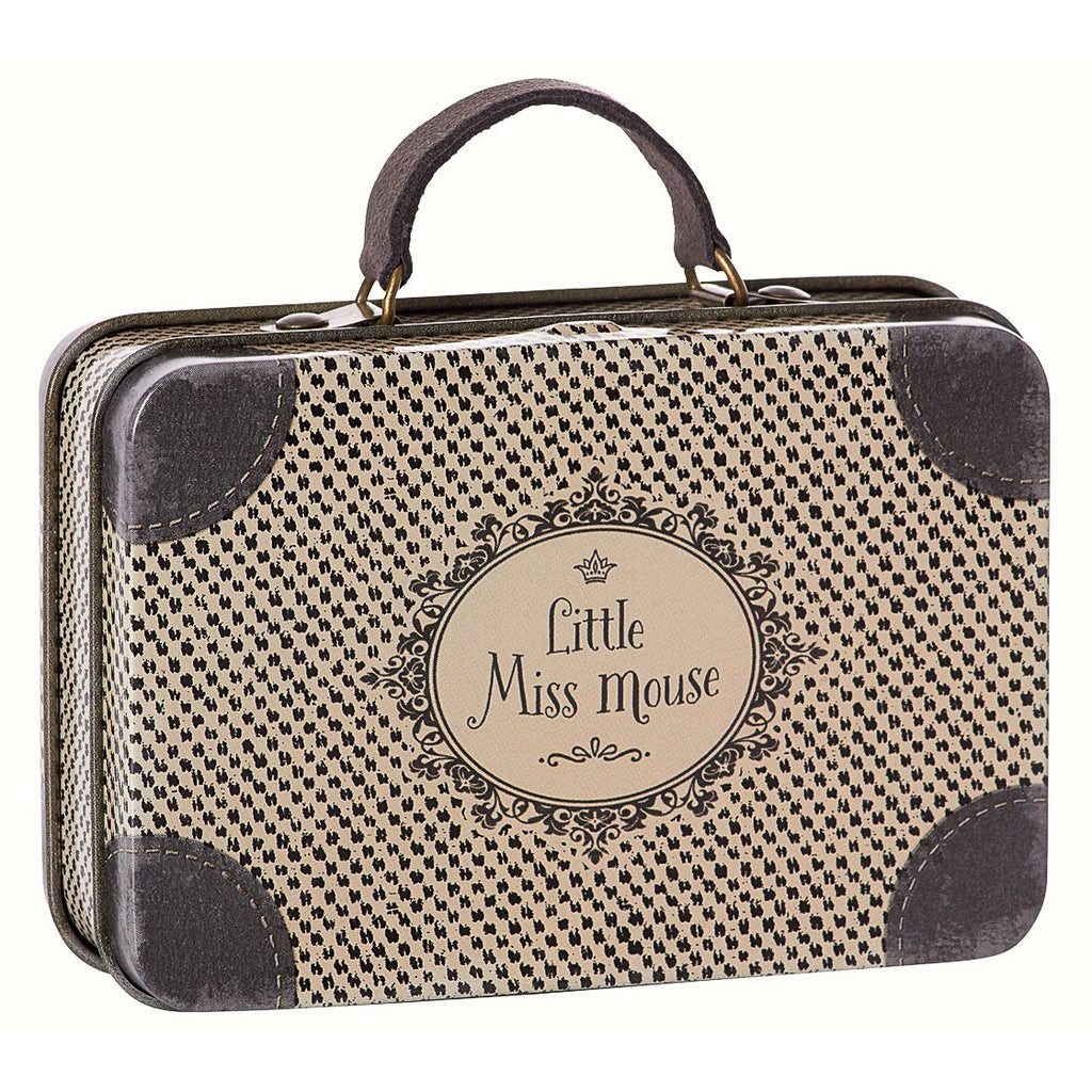 Maileg little miss mouse travel suitcase