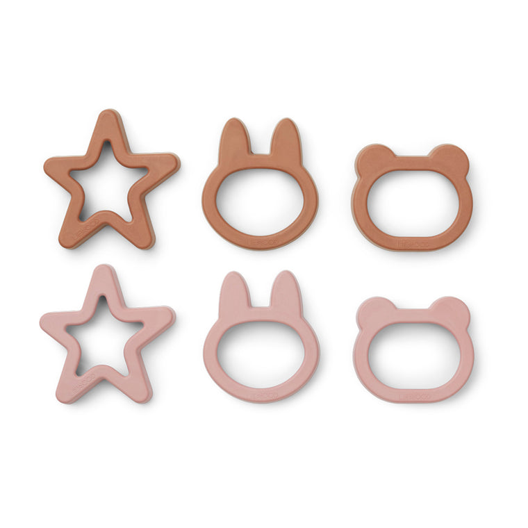 Andy Cookie Cutter 6 Pack - Rose mix