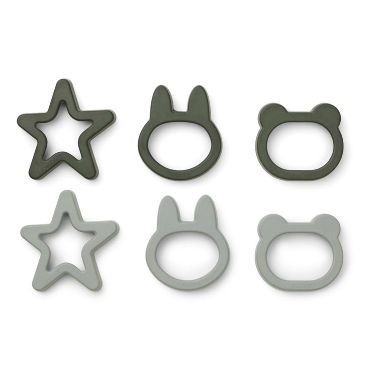 Andy Cookie Cutter 6 Pack - Hunter green mix