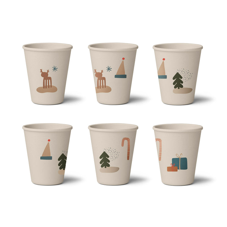 Gertrud Bamboo Cups 6 Pack - Holiday Mix