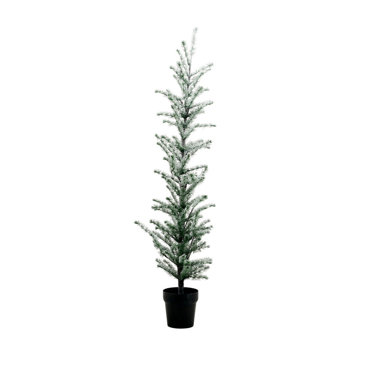Christmas tree, Flocked, w. 190 wire LED lights, Nature