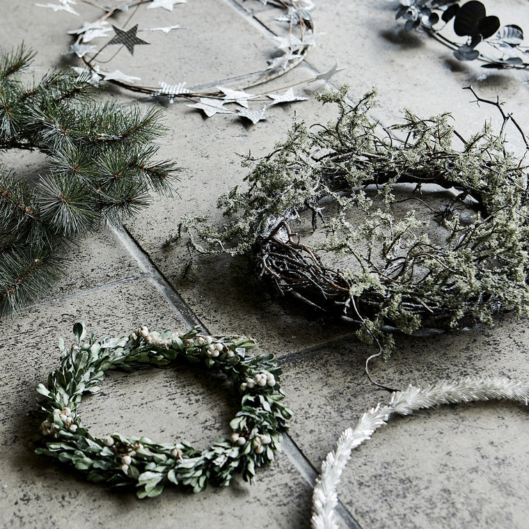 House Doctor artificial Wreath, Wild moss, Nature