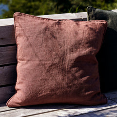 House Doctor Cushion cover, Sai, Red Brown