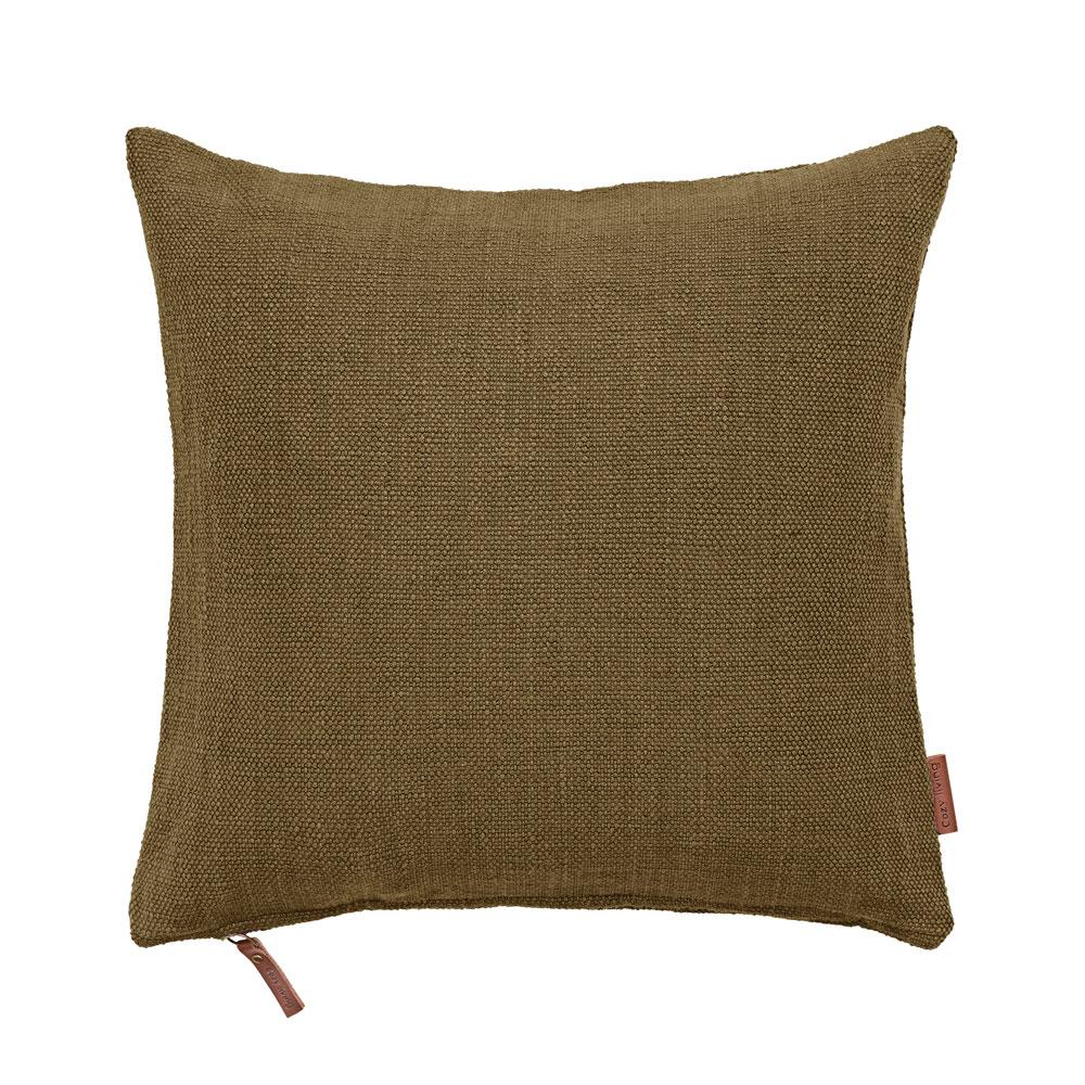 Mustard Cotton Hand loomed heavy cushion cozy living