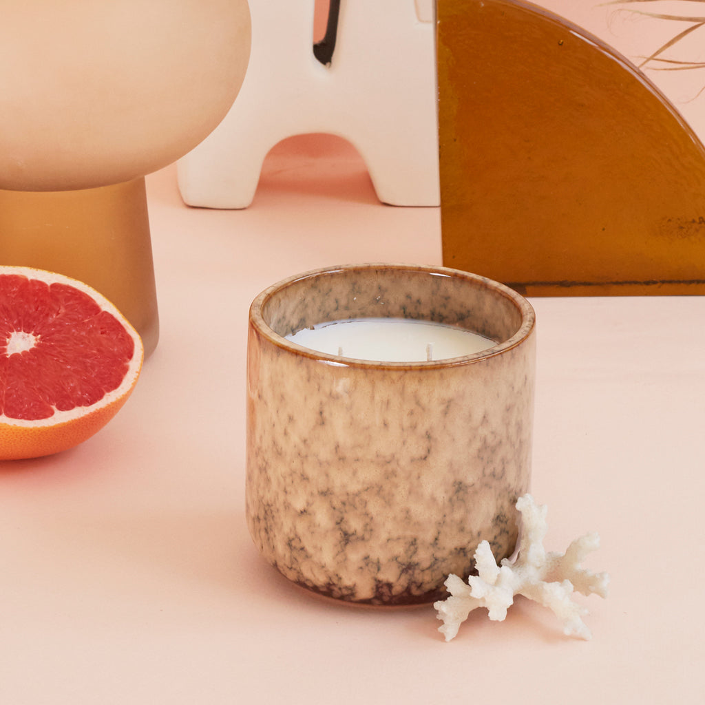 ceramic scented candle: casa fruits