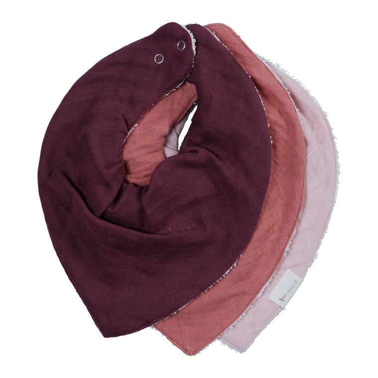 Bandana Bib - Three pack - Berry