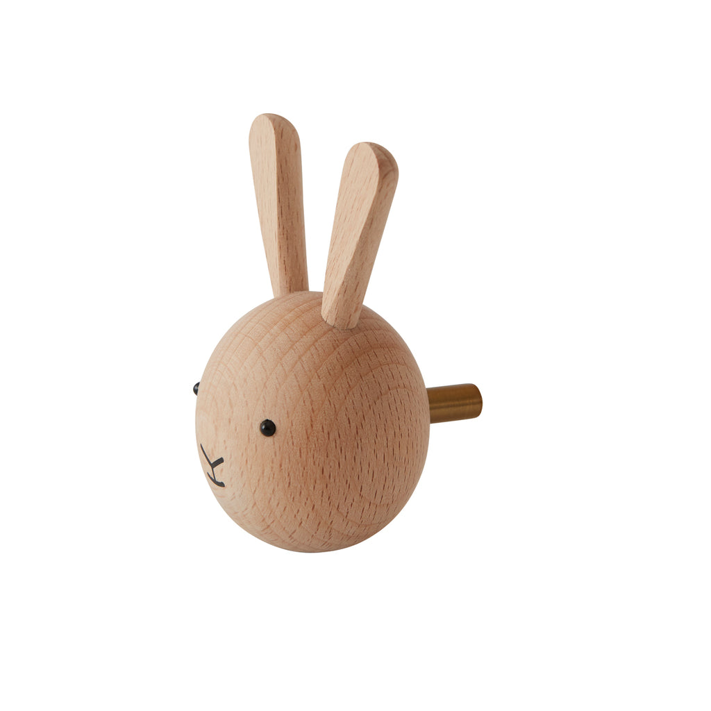 Oyoy Living Design Mini wooden animal hook Rabbit Beech