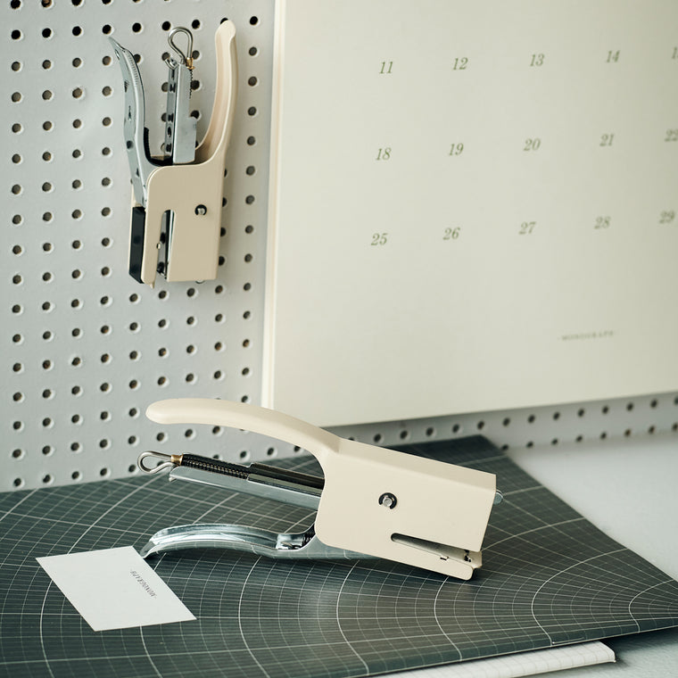 Monograph Stapler, Supply, Ecru White