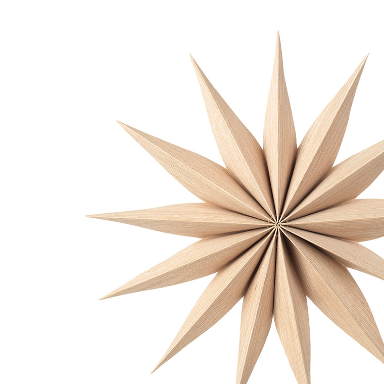 Wooden Star Decoration Venok Small - Natural