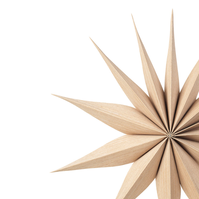 Wooden Star Decoration Venok Medium - Natural