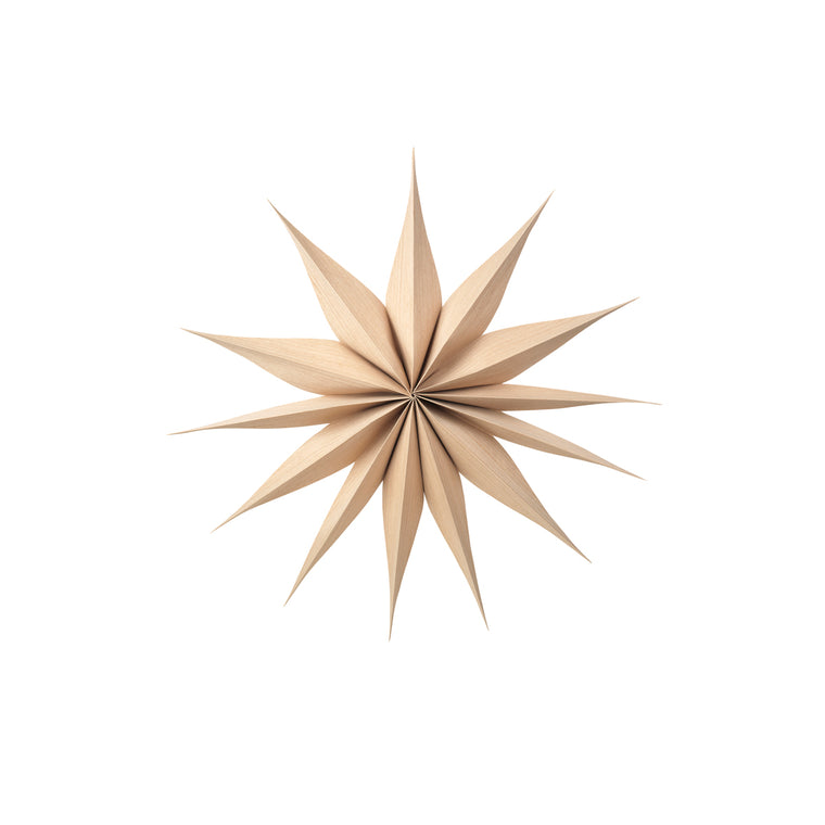 Wooden Star Decoration Venok Large - Natural