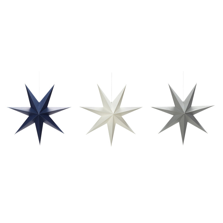 Christmas star set of three 40cm
