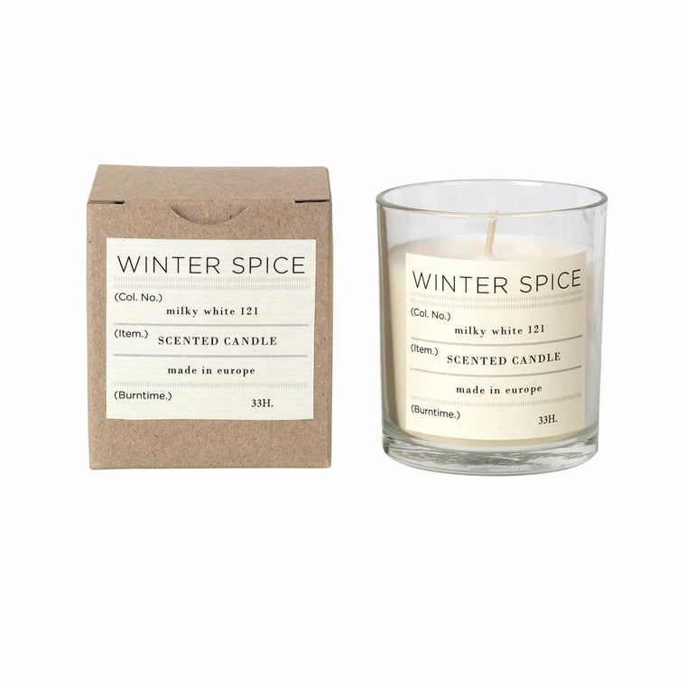 Winter Spice Soy candle in glass