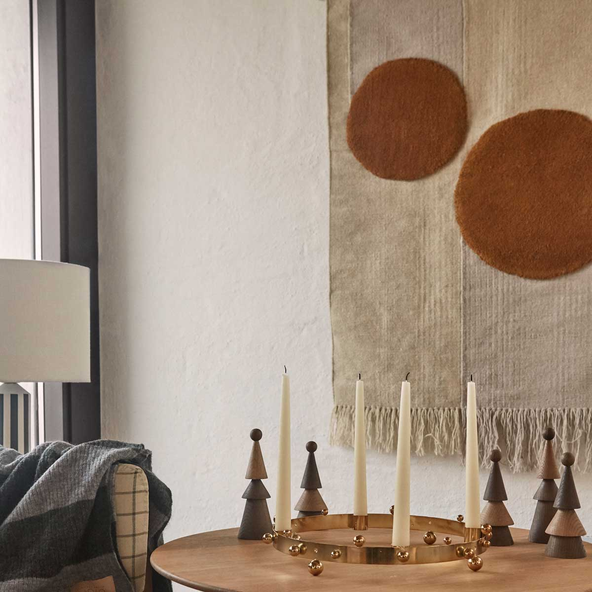 OYOY living design Kika Wall rug cream with orange circles