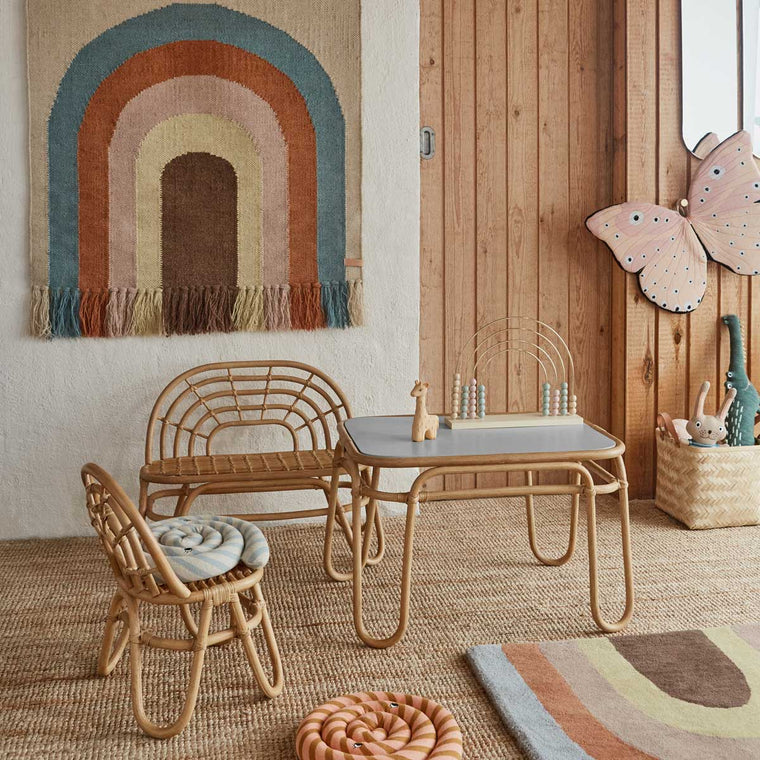 Oyoy Living design Rainbow mini chair Rattan