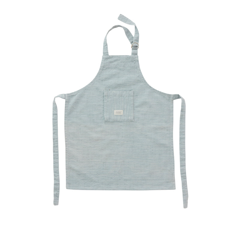 Apron for Kids - Gobi Mini - White / Dusty Blue