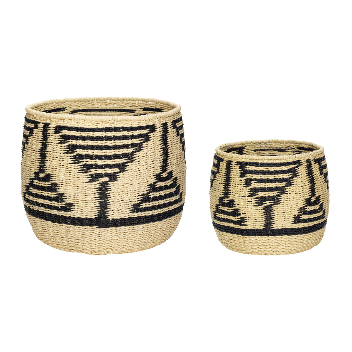 Basket black/nature Hübsch african storage